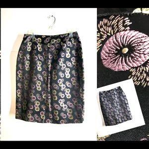 Dresses & Skirts - 💐Asian Inspired Floral Foil Skirt